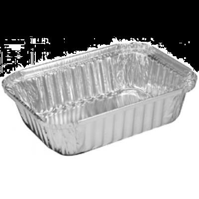 """HFA 2060-30-500 1.5 LB Aluminum Foil Loaf Pans, 7-1/16"""" x 5-1/8"""" x 1-11/16"""", 23.7 oz - 500 / Case"""