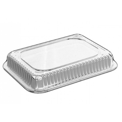 HFA 2060DL-500 Dome Lid for 1.5 lb Aluminum Foil Carryout Containers, Clear - 500 / Case