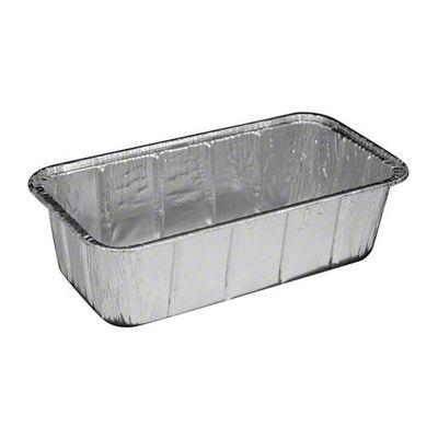 """HFA 316-30-200 Handi Foil 2 Lb Aluminum Foil Loaf Pan, 36 oz, 8-5/8"""" x 4.5"""" x 2-19/32"""" - 200 / Case"""