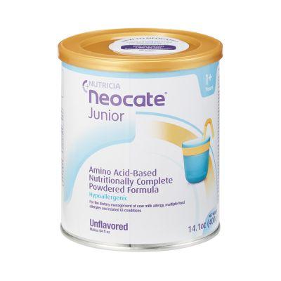 Nutricia North America 127048 Neocate Junior Pediatric Oral Supplement / Tube Feeding Formula without Prebiotics, Powder, Unflavored, 14.1 oz Can - 4 / Case