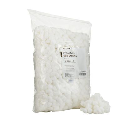 McKesson 16-9153 Cotton Balls, Medium, White, NonSterile - 2000 / Case