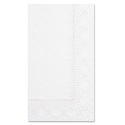 "Hoffmaster 180500 Decorator Paper Dinner Napkins, 1/8 Fold, 2 Ply, 15"" x 17"", White - 1000 / Case"
