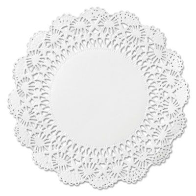 "Hoffmaster 500238 10"" Cambridge Lace Paper Doilies, White - 1000 / Case"