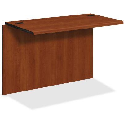 """The HON Company 10760CO Bridge Desk Add-On, 42-18/25"""" x 23"""" x 29-1/4"""", Cognac Laminate - 1 / Case"""