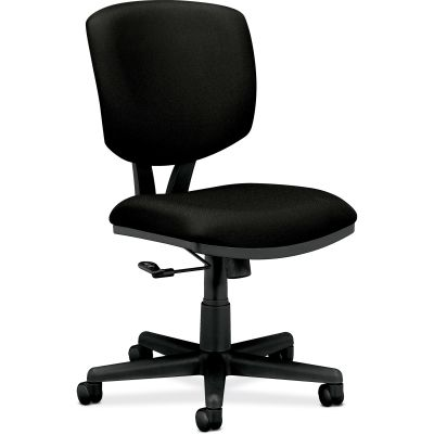 The HON Company 5701GA10T Volt Task Chair with Wheels, No Arms, Tilt, Black Fabric - 1 / Case