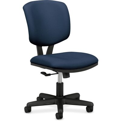 The HON Company 5701GA90T Volt Task Chair with Wheels, No Arms, Tilt, Navy Fabric - 1 / Case