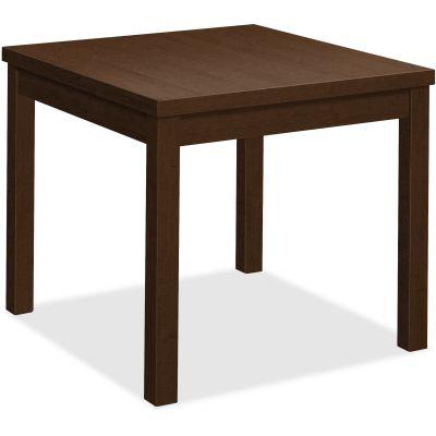 """The HON Company 80192MOMO Corner Table, 24"""" x 24"""" x 20"""", Mocha Laminate - 1 / Case"""
