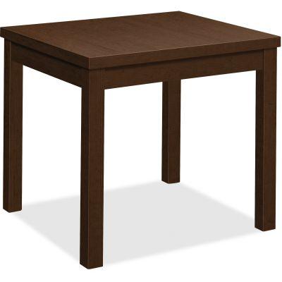 "The HON Company 80193MOMO End Table, 24"" x 20"" x 20"", Mocha Laminate - 1 / Case"