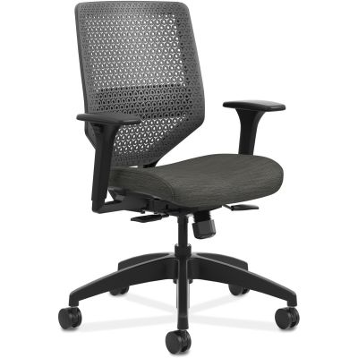The HON Company SVR1ACLC10TK Solve Task Chair on Wheels, Mesh Back, Ink Fabric Seat - 1 / Case