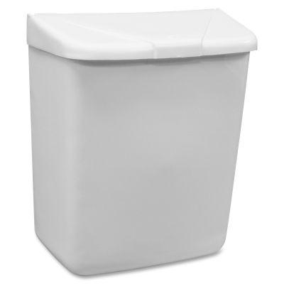 Hospeco 250201W Feminine Hygiene Waste Receptacle, Plastic, White - 1 / Case