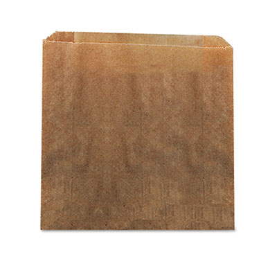 "Hospeco 6141 Feminine Hygiene Receptacle Liner, Waxed Kraft, 10.5"" x 9.38"", Brown - 250 / Case"