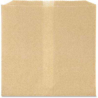 "Hospeco 6802W Feminine Hygiene Receptacle Liner Bags, Waxed Paper, 8"" x 7"", Brown - 500 / Case"