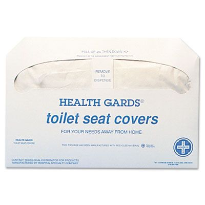 Hospeco HG5000 Health Gards Toilet Seat Covers, Half Fold, White - 5000 / Case