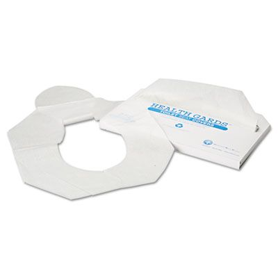 "Hosepco HG2500 Health Gards Toilet Seat Covers, Half Fold, 14.25"" x 16.5"", White - 2500 / Case"
