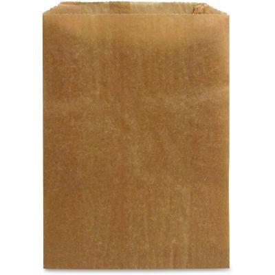 """Hospeco KL Feminine Hygiene Receptacle Liner Bags, Waxed Kraft Paper, 7-1/2"""" x 3-1/2"""" x 10-1/4"""", Brown - 500 / Case"""