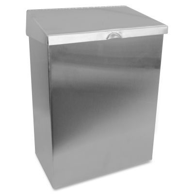 "Hospeco ND1E Feminine Hygiene Waste Receptacle, 11-5/8"" x 8-1/4"" x 4-1/2"", Stainless Steel - 1 / Case"