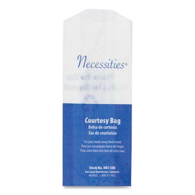"Hospeco NEC500 Necessities Courtesy Feminine Hygiene Disposal Bags, 8"" x 3"" x 2"" - 500 / Case"