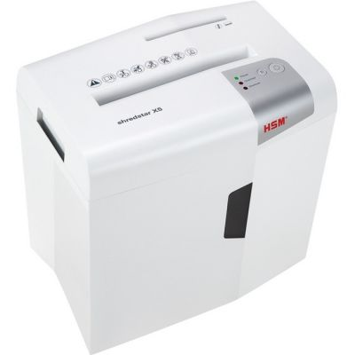 HSM 1043W Shredstar X5 Cross-Cut Shredder, 5-Sheet Capacity, White - 1 / Case