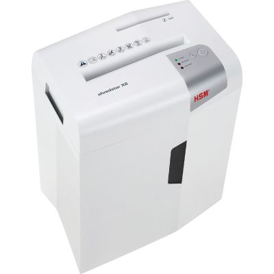 HSM 1044 Shredstar X7 Cross-Cut Shredder, 8-Sheet Capacity, White - 1 / Case