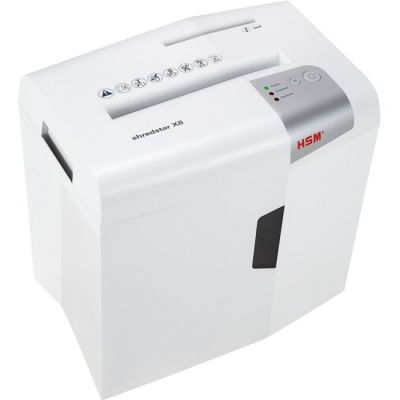 HSM 1044W Shredstar X8 Cross-Cut Shredder, 8-Sheet Capacity, White - 1 / Case