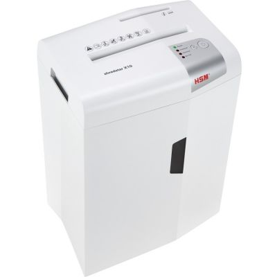 HSM 1045 Shredstar X10 Cross-Cut Shredder, 10-Sheet Capacity, 5.3 Gallon Bin, White - 1 / Case