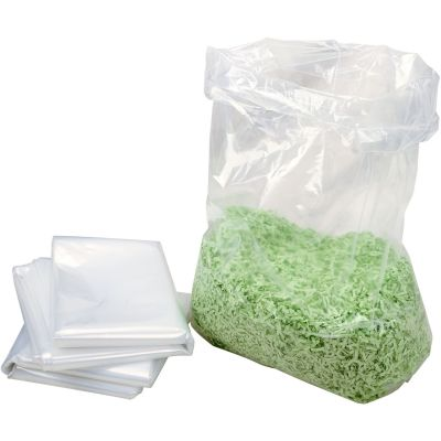 "HSM 1408 13 Gallon Shredder Bags for HSM Models, 14"" x 8"" x 32"", Clear - 100 / Case"