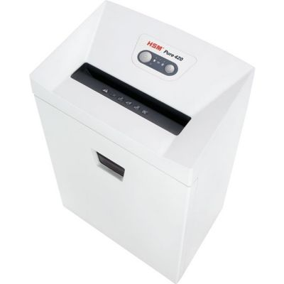 HSM 2341 Pure 420 Strip-Cut Shredder, 24-Sheet Capacity, White - 1 / Case