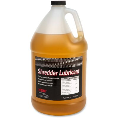 HSM 315 Shredder Lubricant Oil, 1 Gallon Bottle - 1 / Case