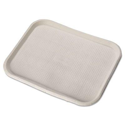 "Huhtamaki Chinet 20804 Savaday Molded Fiber Food Trays, 14"" x 18"", White / Natural - 100 / Case"