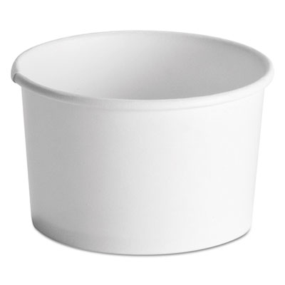 Huhtamaki 71037 Chinet 8-10 oz Squat Paper Hot / Cold Food Containers, White - 1000 / Case