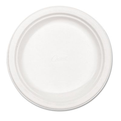 "Huhtamaki Chinet 21227 Verdict 8.75"" Classic Paper Plates, Molded Fiber, White - 500 / Case"