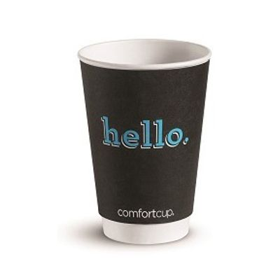 Huhtamaki Chinet 63518 20 oz Comfort Paper Hot Cups, Printed 'hello.' - 435 / Case