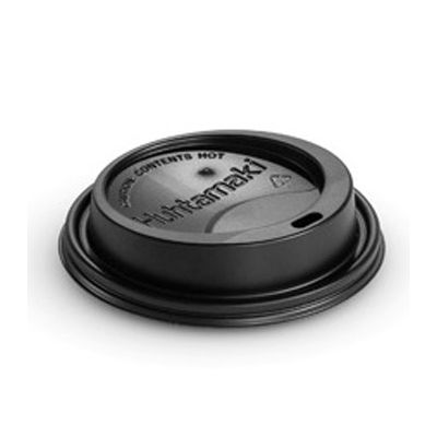 Chinet 89408 Dome Lids for 12, 16, 20 oz Comfort Hot Cups, Black - 1200 / Case