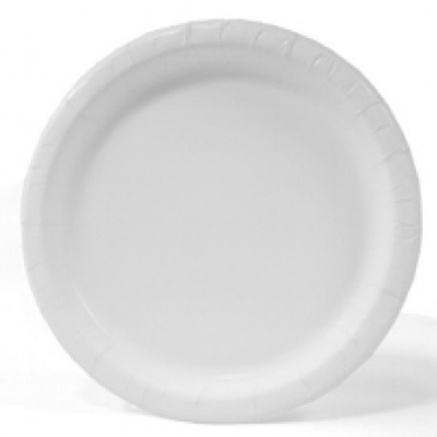 "Aspen 30600 8.5"" Paper Plates, Coated, White - 500 / Case"