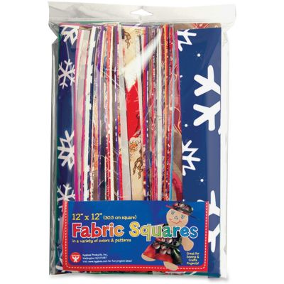 """Hygloss 55836 Craft Fabric Squares, 12"""" x 12"""", Assorted - 24 / Case"""