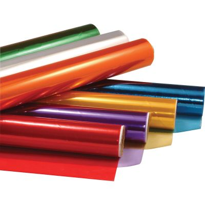 """Hygloss 71577 Cellophane Roll, 20"""" x 12-1/2', Assorted Colors - 7 / Case"""