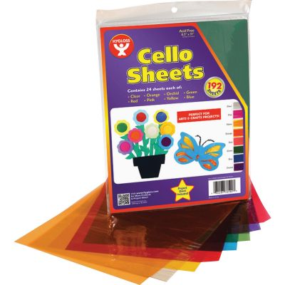 """Hygloss 78592 Cellophane Sheets for Arts & Crafts, Acid-Free, 8-1/2"""" x 11"""" - 192 / Case"""