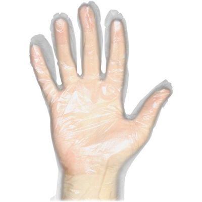 Impact 8600L Protected Chef Poly Disposable Gloves, Polyethylene, Large, Clear - 10000 / Case