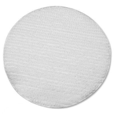 "Impact 1019 19"" Low Profile Carpet Bonnet, Polyester Blend, White - 6 / Case"