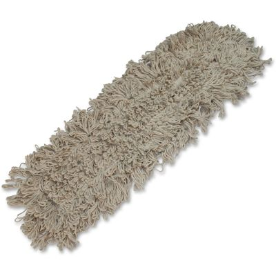 "Impact 17524 Traditional Dust Mop Heads, 4 Ply Cotton, Looped End, 24"" x 5"", White - 12 / Case"