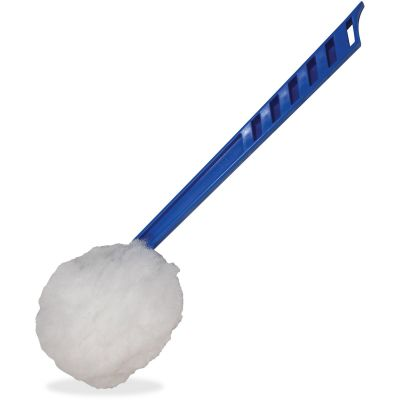 "Impact 201 Deluxe Toilet Bowl Mops, 5-3/4"" Head, 12"" Handle, Blue / White - 100 / Case"