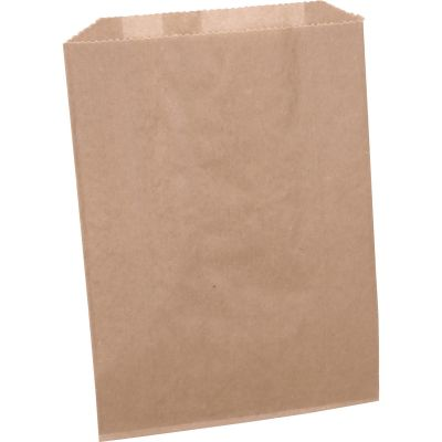 "Impact 25025088 Sanisac Feminine Hygiene Receptacle Liner Bags, 7-1/2"" x 3"" x 10"", Brown - 500 / Case"