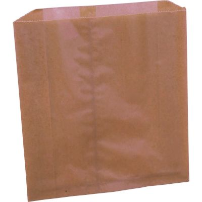 "Impact 25121298 Feminine Hygiene Receptacle Liner Bags, 9-1/4"" x 3-1/4"" x 9-7/8"", Brown - 250 / Case"