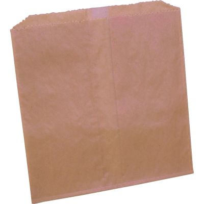 "Impact 25122488 Feminine Hygiene Liner Bags for Floor Receptacle, Waxed Paper, 8"" x 7"" x 8"",  Brown - 500 / Case"
