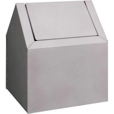 Impact 25123300 Feminine Hygiene Floor Receptacle, Metal, White - 1 / Case