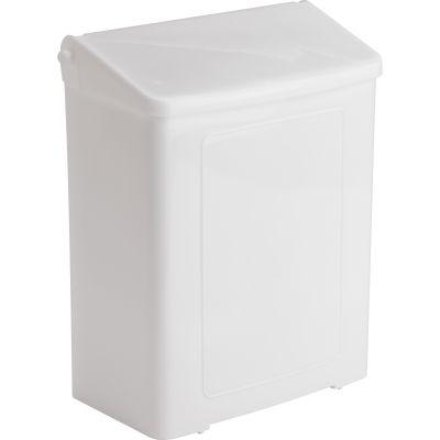 Impact 25125200 Sani Feminine Hygiene Receptacle, Plastic, White - 1 / Case