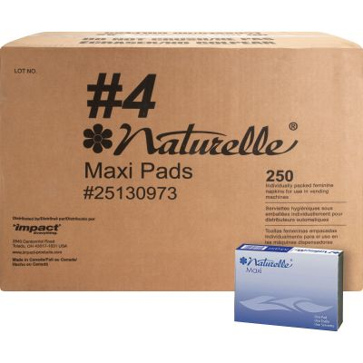 Impact 25130973 Naturelle Maxi Pad, Dispenser Box - 250 / Case