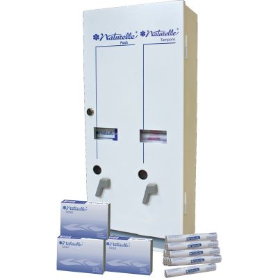Impact 25160100 Dual Vendor Dispenser for Pads & Tampons - 1 / Case