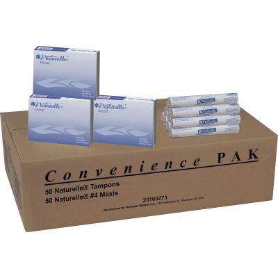 Impact 25160273 Naturelle Maxi Pad & Tampon Refills for Dispenser - 100 / Case