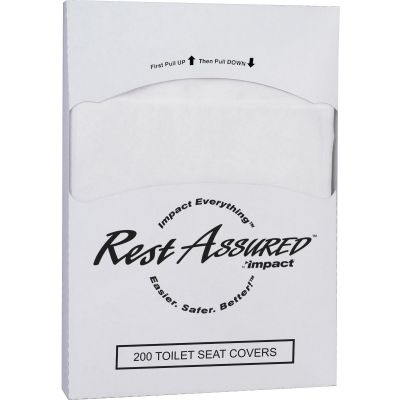 Impact 25184473 Rest Assured Toilet Seat Covers, 1/4 Fold - 5000 / Case